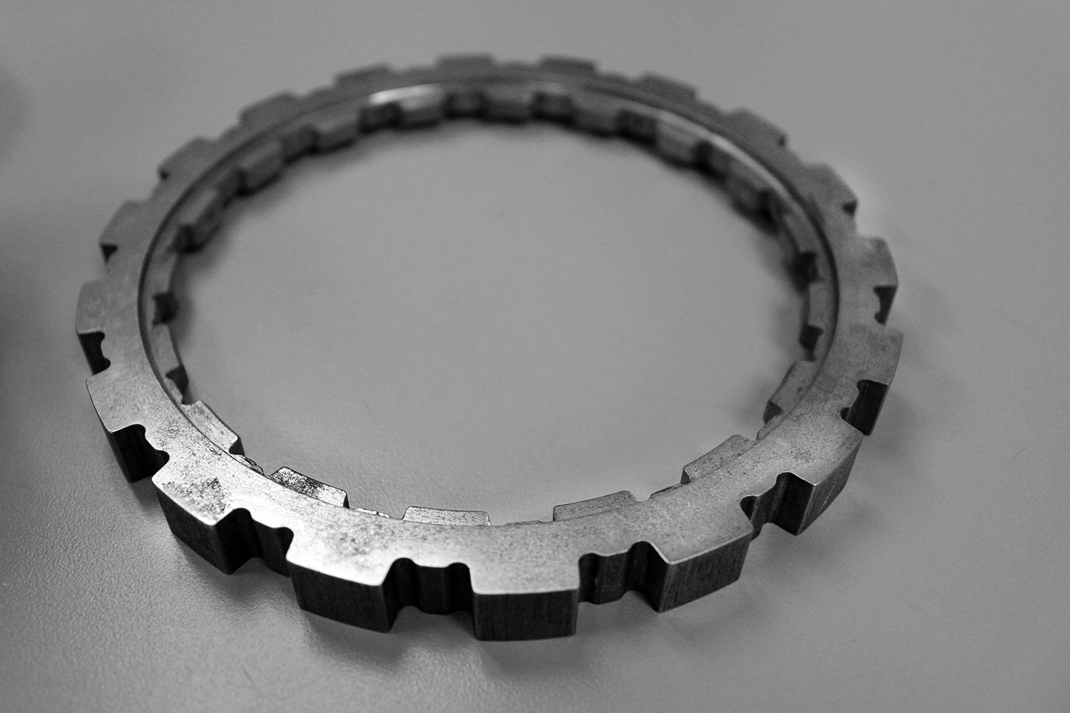 Component made with exterior broach
